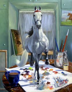 Caballos Pintura Surrealismo