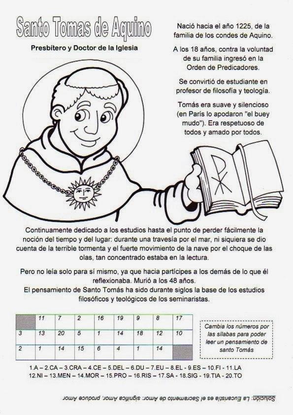 La Catequesis (El blog de Sandra): Recursos Catequesis Santo Tomás ...