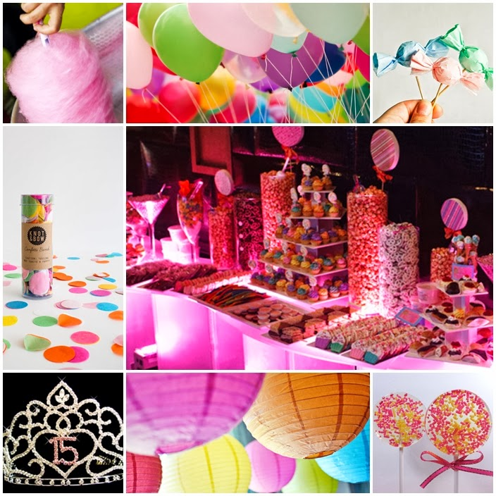 Colorful Candyland Quinceanera Sweet Fifteen Theme | Quince Candles