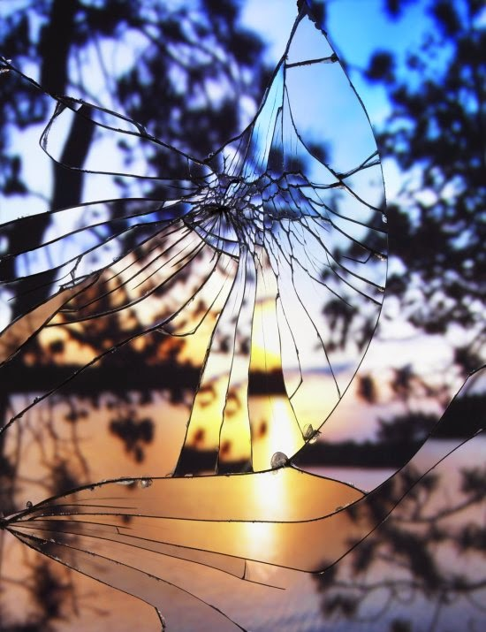 Bing Wright fotografia céus espelho quebrado broken mirror evening skies