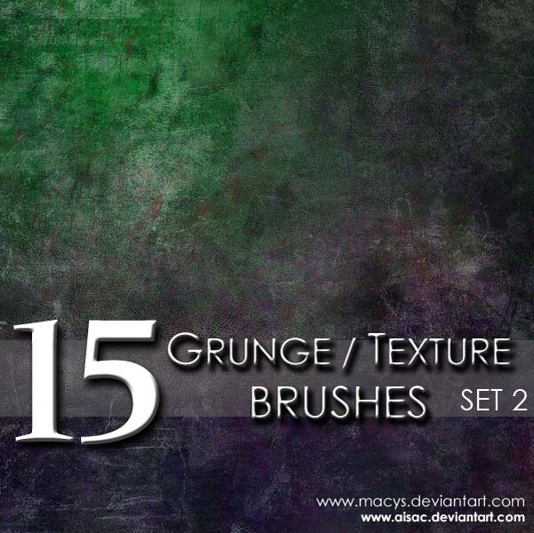 Grunge and Texture Brushes 2 by AiSac 30 Must Have Grunge Photoshop Brushes Collection Set