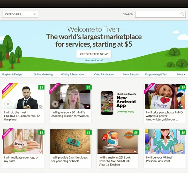 Sell a service for $5 or more at Top Online Marketplaces