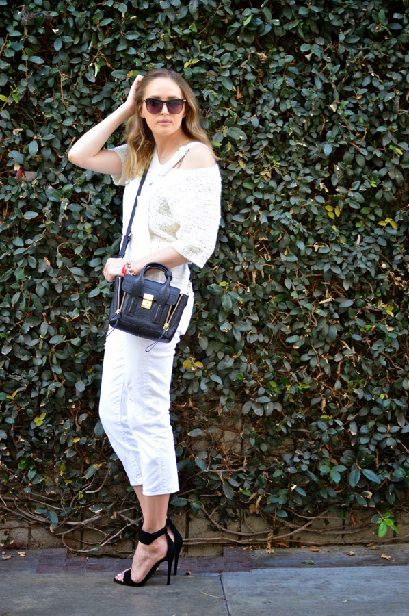 How To Wear White Overalls In Spring- Paige Denim Overalls- Schutz Heels- LA Fashion Blogger- Ashley Murphy