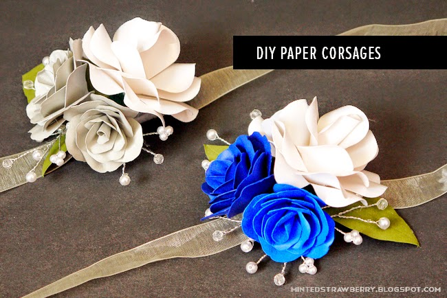 First time making paper flower corsages minted strawberry mightylinksfo