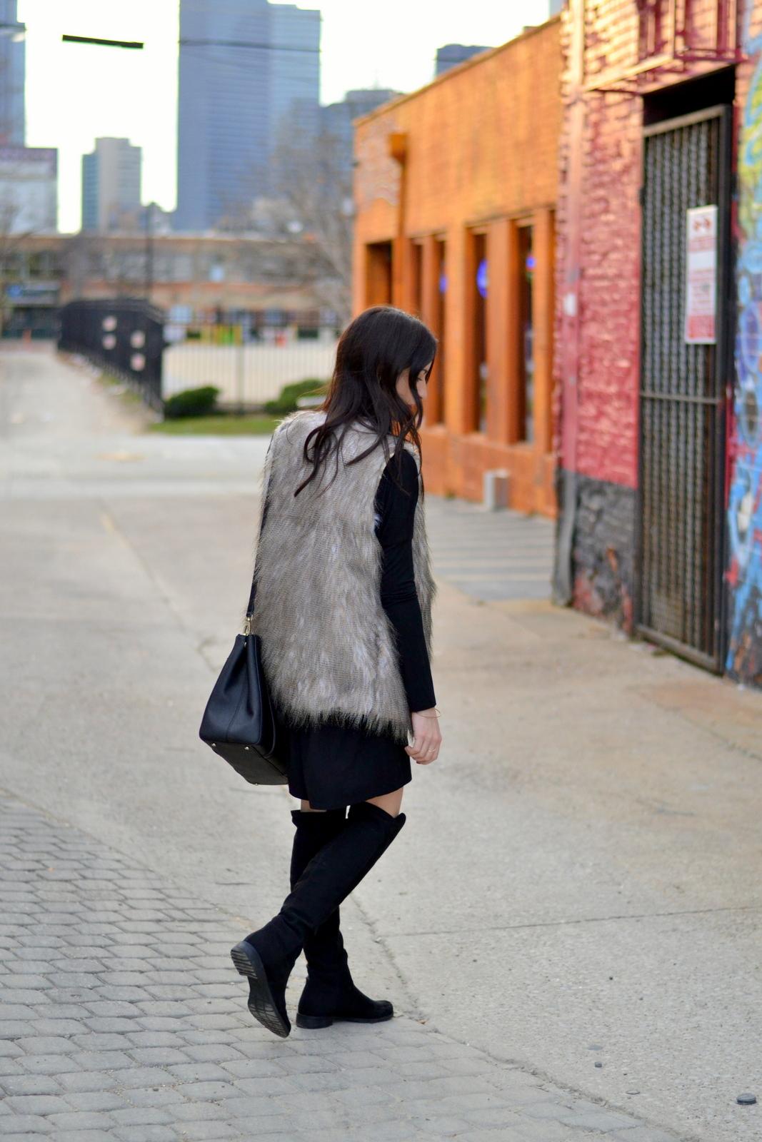 Fur Vest_OTK Boots_Black Piko