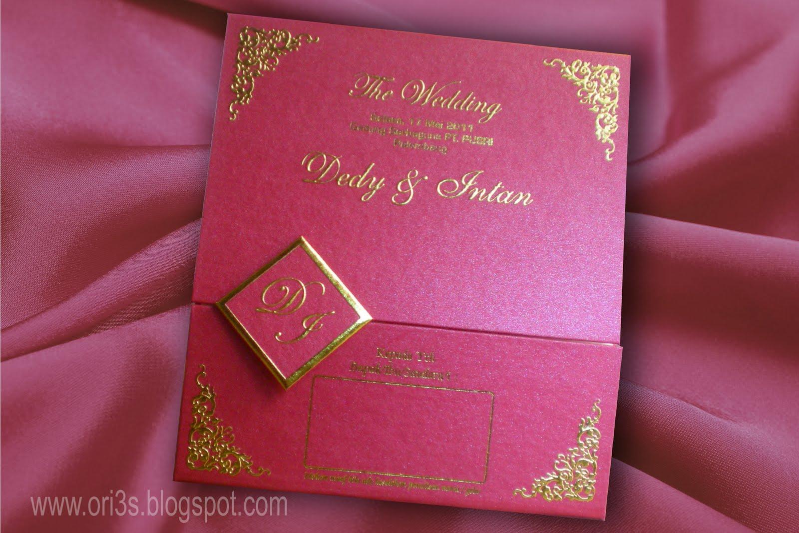 Percetakan ORIE. Kartu Undangan, Wedding Card. Palembang