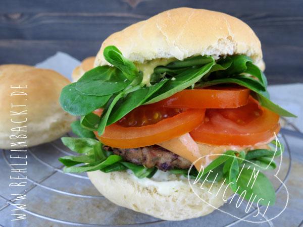 Rezept für perfekte Burger Buns, soft und fluffy, Foodblog rehlein backt