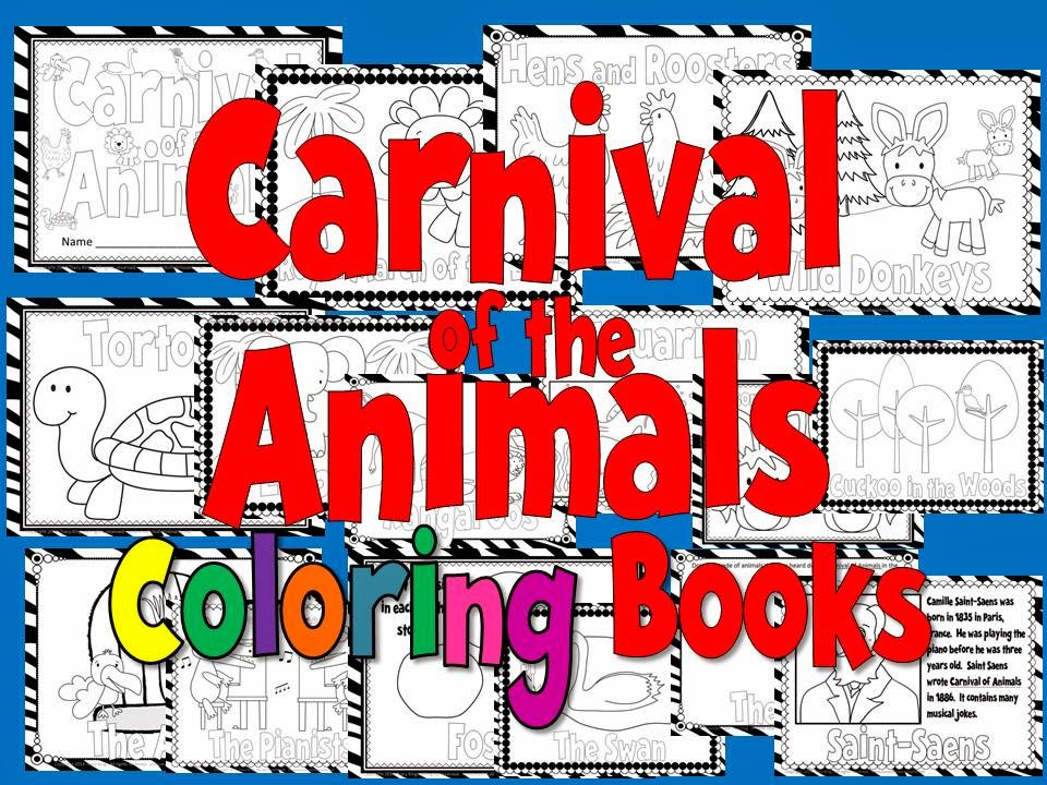 http://www.teacherspayteachers.com/Product/Carnival-of-the-Animals-Coloring-Book-or-Coloring-Sheets-3-sizes-1113405