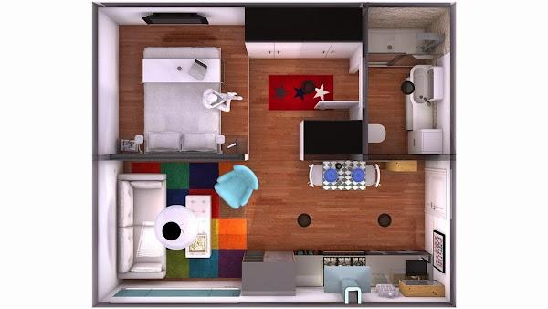 Minipiso decorar tu casa es for Decorar casa 30m2