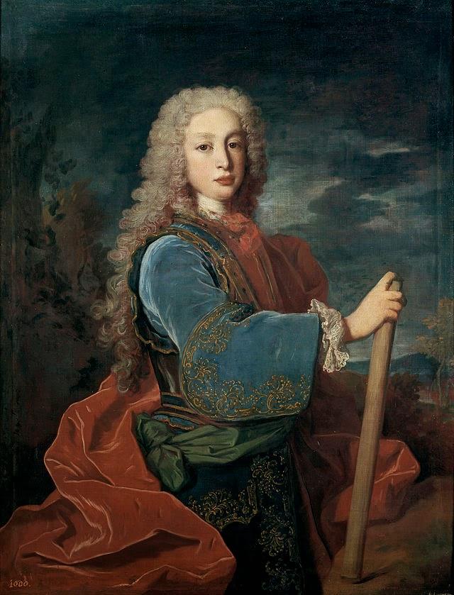 Retrato de Luis I rey de España obra del  francés Jean Ranc