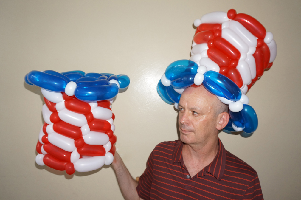 Balloon Animals Twisting Instructions Uncle Sam Balloon Hat