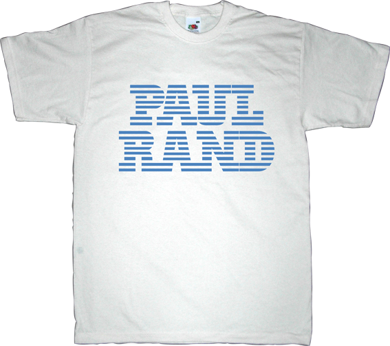 paul rand designer graphic design brand logotype t-shirt ephemeral-t-shirts ibm