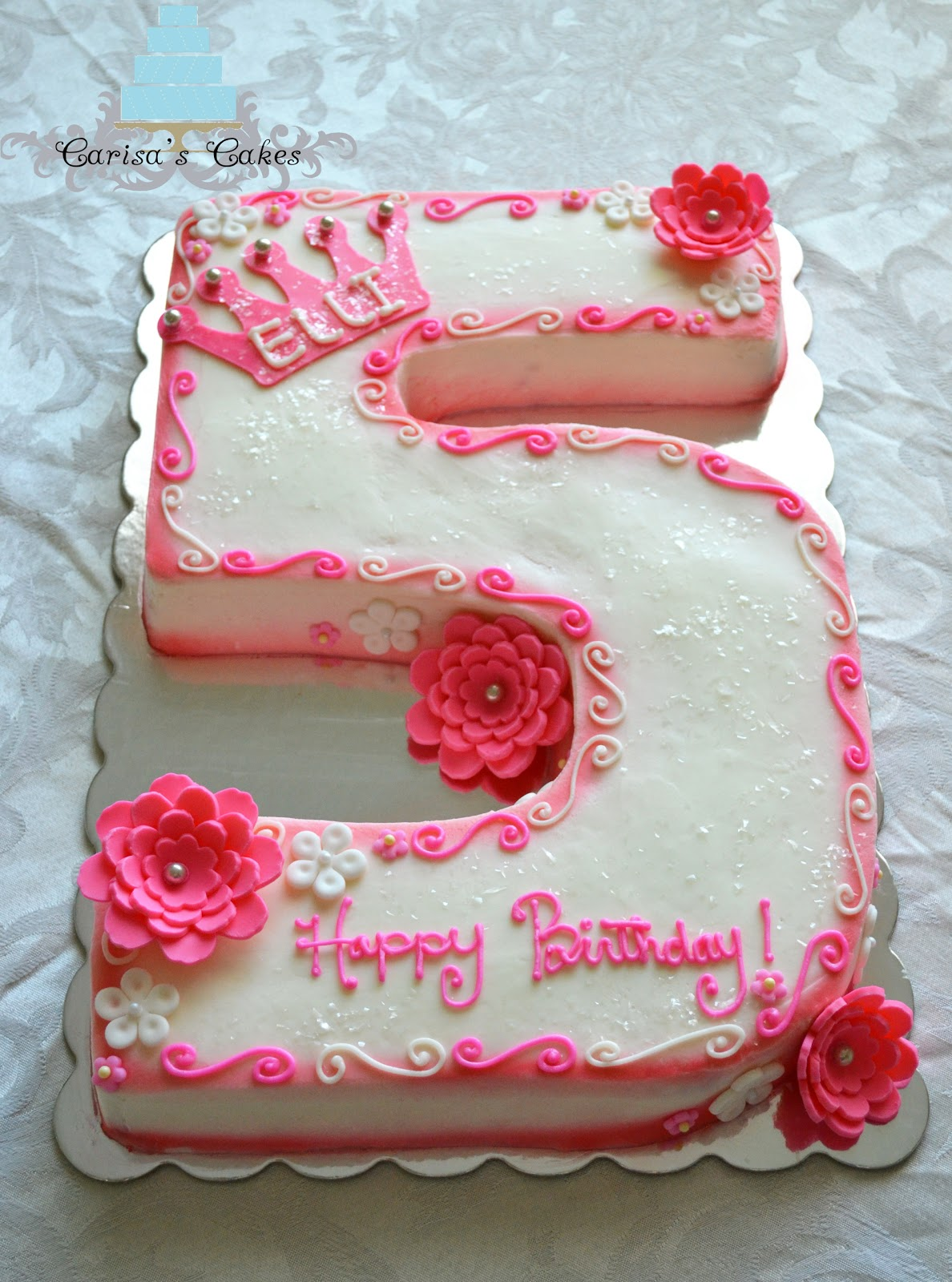 Birthday Cake Images With Photo : Carisa s Cakes: 5 Shaped Birthday Cake