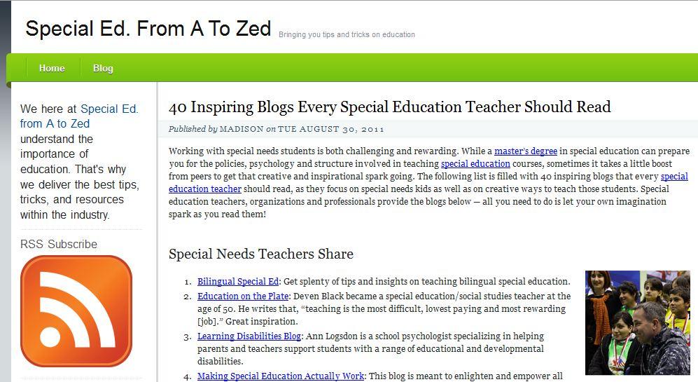 Learn Lead Grow 40 Inspiring Blogs Every Special Education Teacher