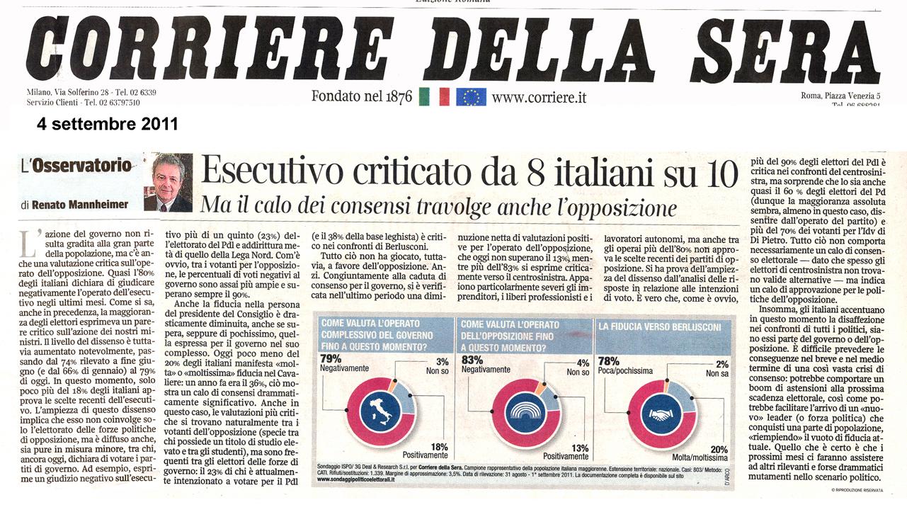 Tg roma talenti tira una bruttissima aria cari lettori for Corriere della sera casa