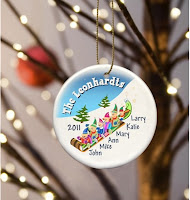Family of Elves Personalized Christmas Tree Ornament