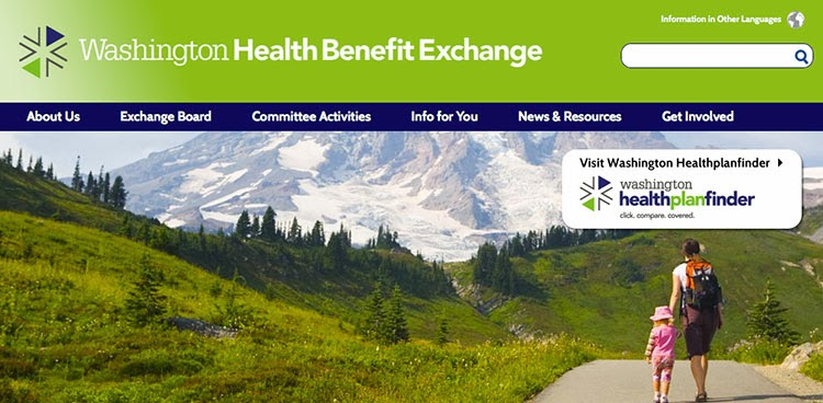 Washington State Health Benefit Exchange website