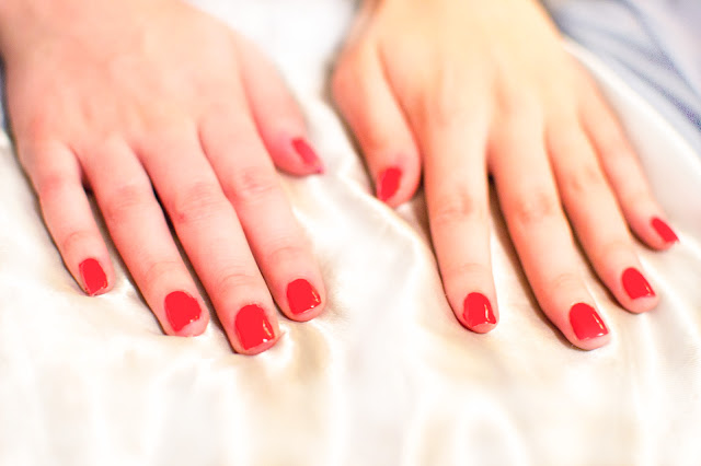 Barry M orange nail polish