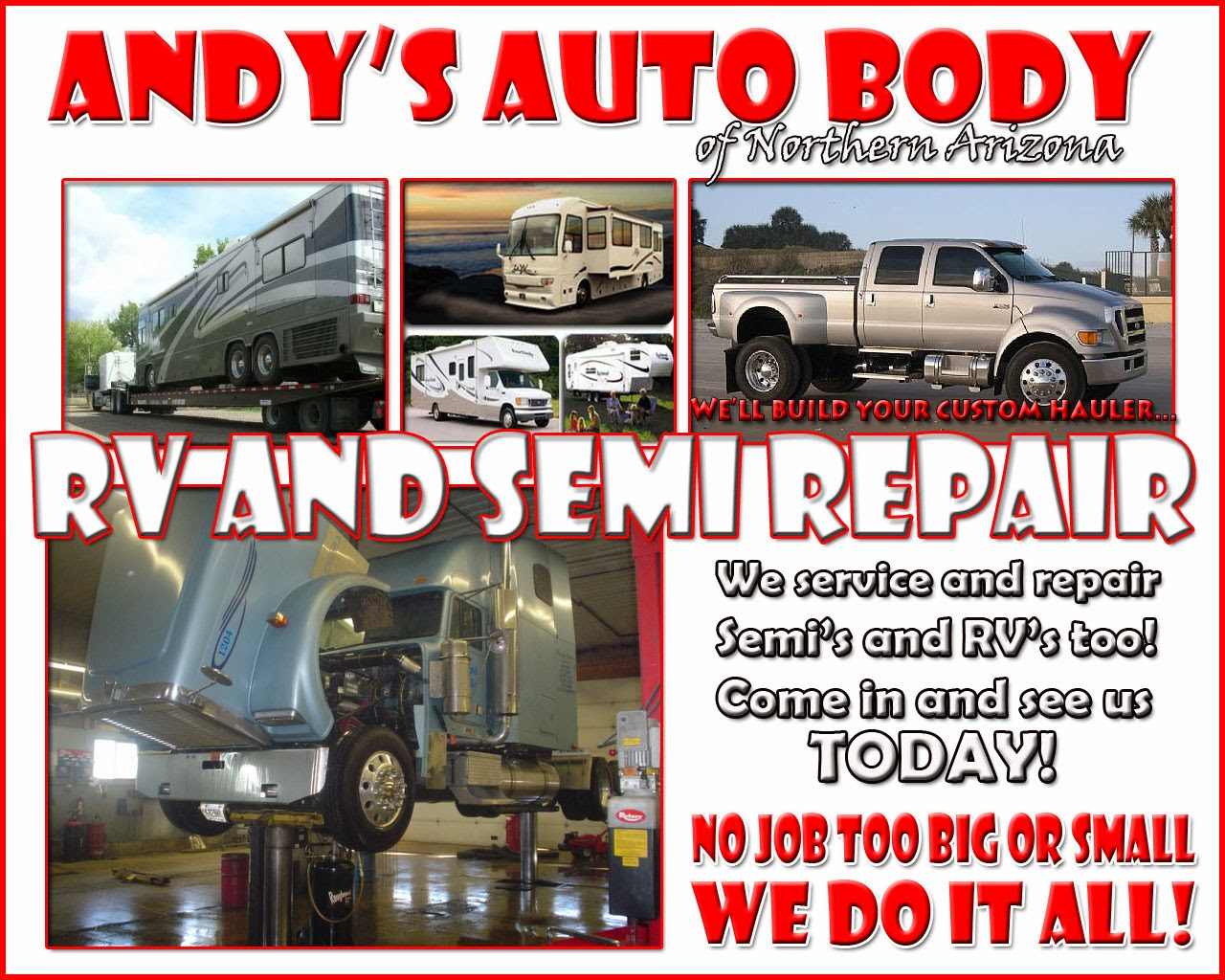 Why Choose Us? Andy's Auto Service is a family-owned business offering over 25 years of honest and professional collision and mechanical repair experience. We pride ourselves on our strong commitment to quality work and superior customer service, offering lower labor rates and passing along the discounts we receive on parts direct to our customers.
