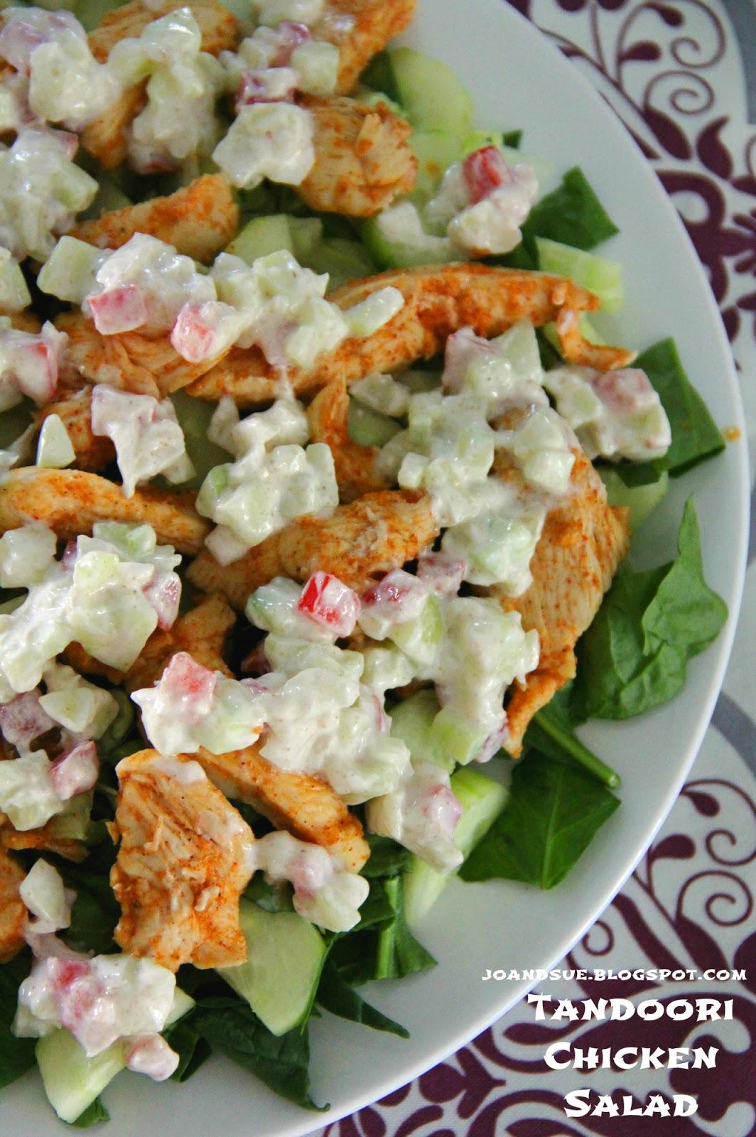 Jo and Sue: Tandoori Chicken Salad With Tomato and Cucumber Raita