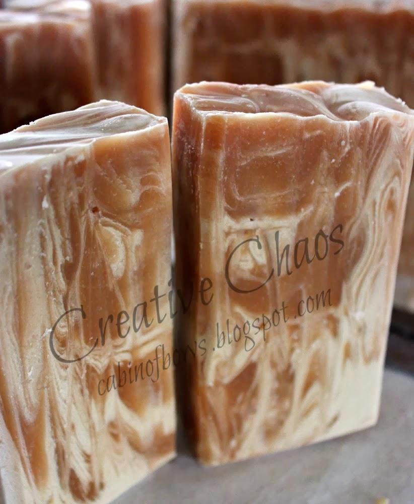 white tea with peach handmade soap