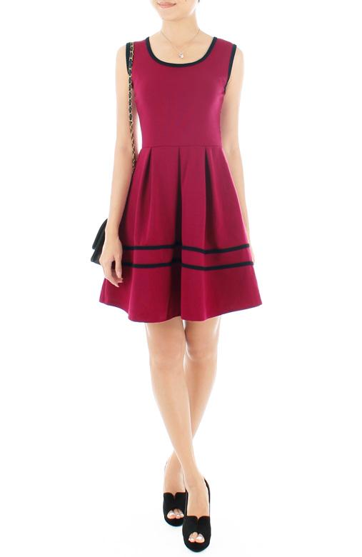 Adore Me Flare Dress – Violet