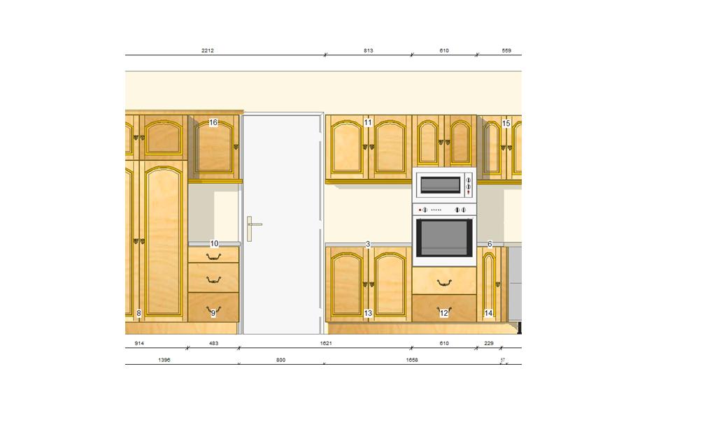 Litueche21 plano muebles de cocina bilbao - Planos de muebles de cocina ...