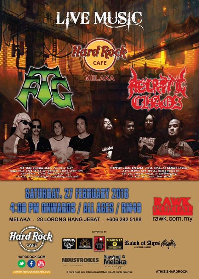 Event FTG & Necrotic Chaos Live Music Hard Rock 2016