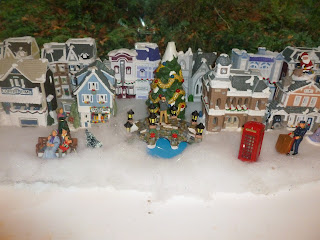 in christmas village
