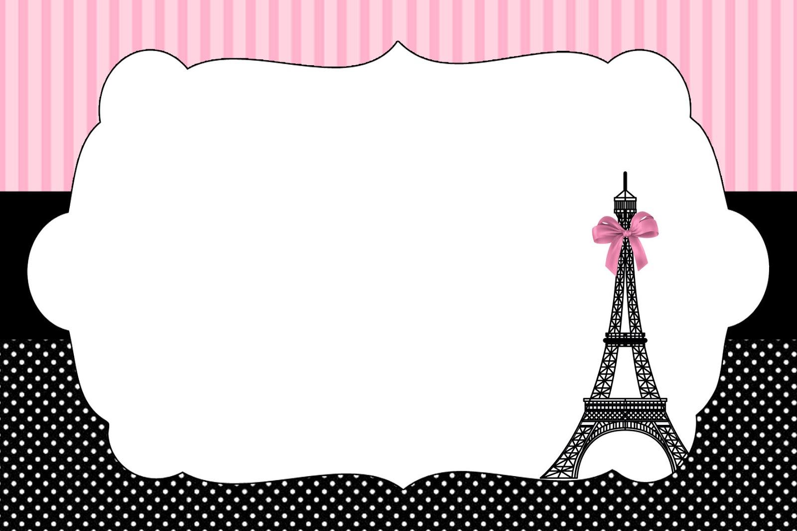 Free Printable Paris Invitations