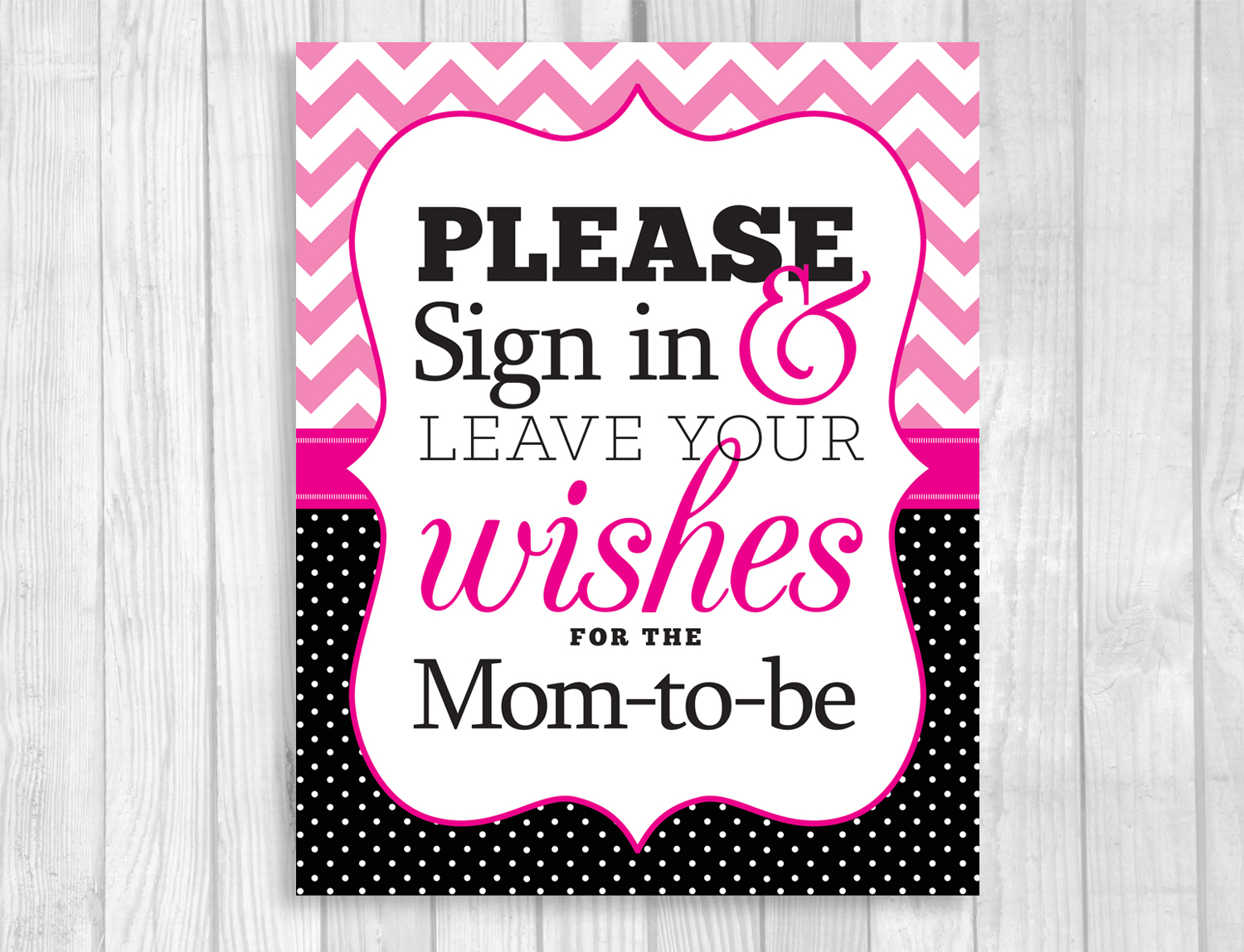 weddings by susan printable baby shower signs hot pink chevron and