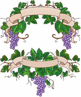 Ageless Embroidery Grape Vine Font Embellishments