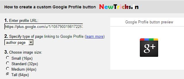 Google Profile Button