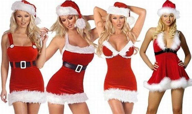 - Beautiful Girls In Santa Costume ~ Violet Fashion Art