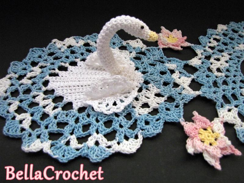 Bellacrochet Serene Swans Doily A Free Crochet Pattern For You