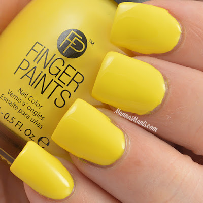 FingerPaints Tie Dye Revolution Yellow Out Man swatches