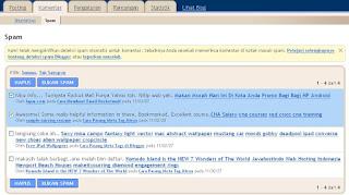 Cara Hapus Komentar Spam di Blogger