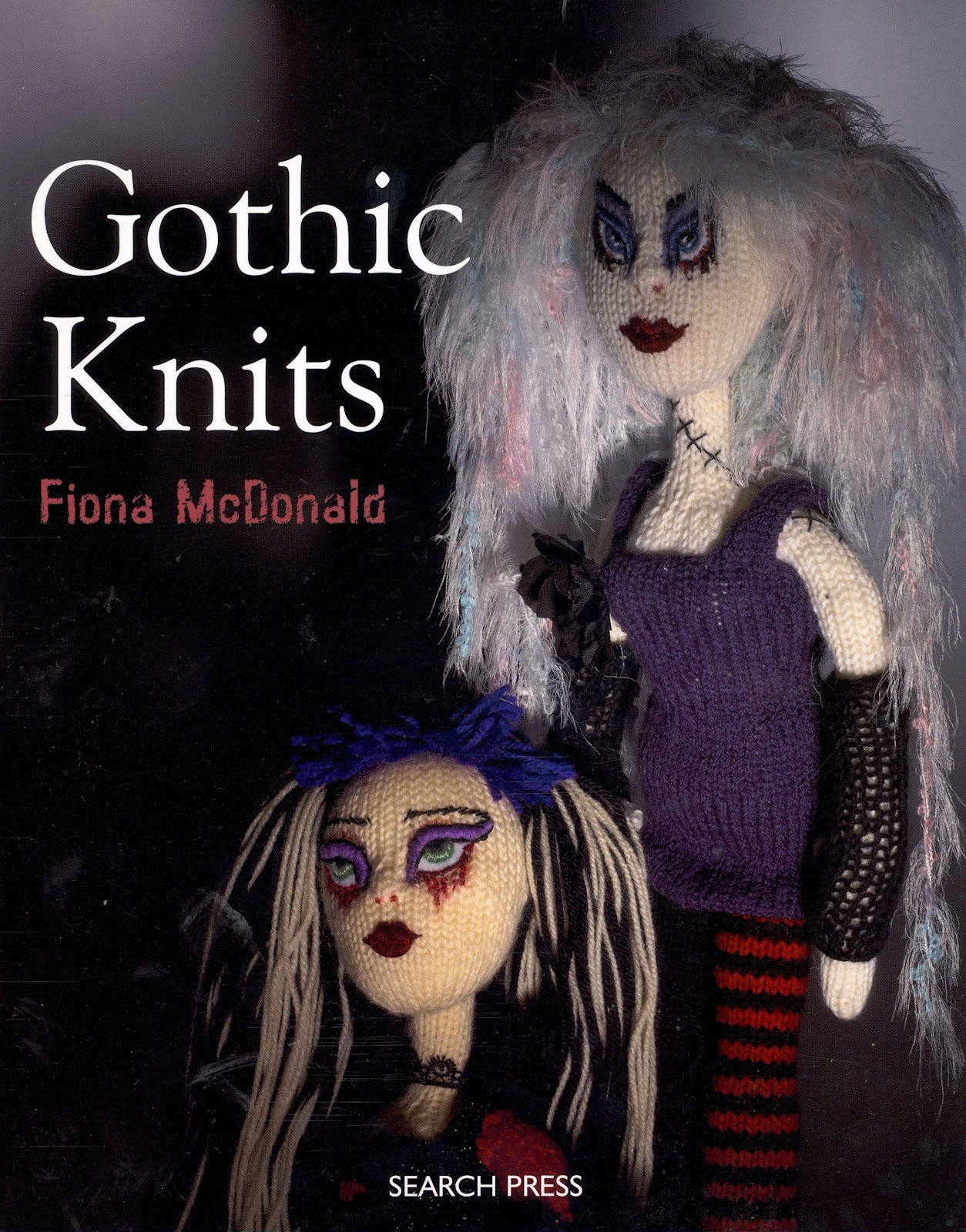 Cap Knitting Patterns : BeadBag: Gothic Knits - knitting punk dolls!