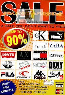 Branded Apparels Sale-Johor 2012