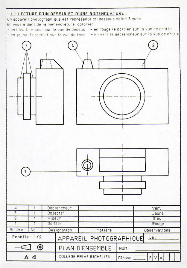 Technoprojets3 cours n 21 exercice de r vision 2 - Exercice dessin industriel coupe et section ...