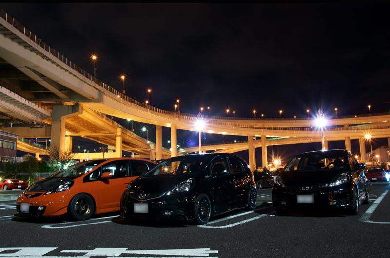 Honda Fit (Jazz) nocne zdjęcia
