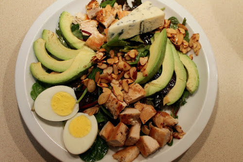 Cobb Salad with Honey-Smoked Almonds
