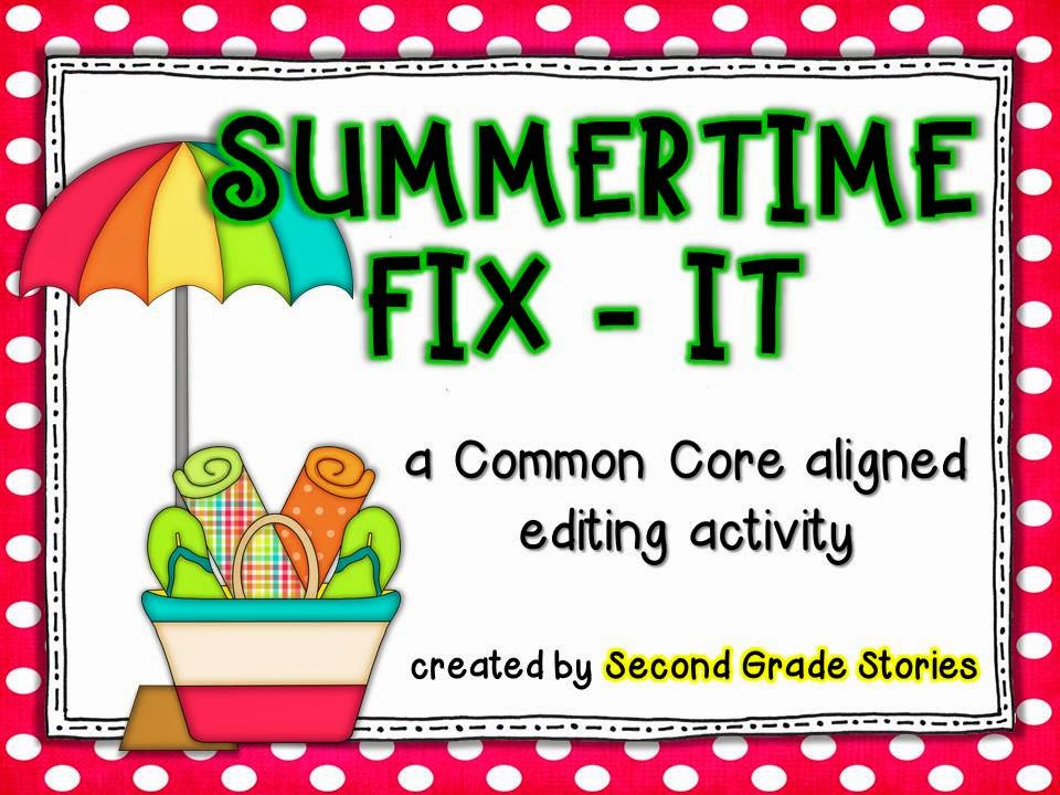 http://www.teacherspayteachers.com/Product/Summertime-Fix-It-an-editing-activity-690989