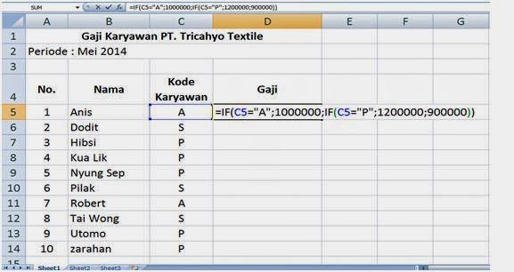Menggunakan rumus IF ganda  Excel