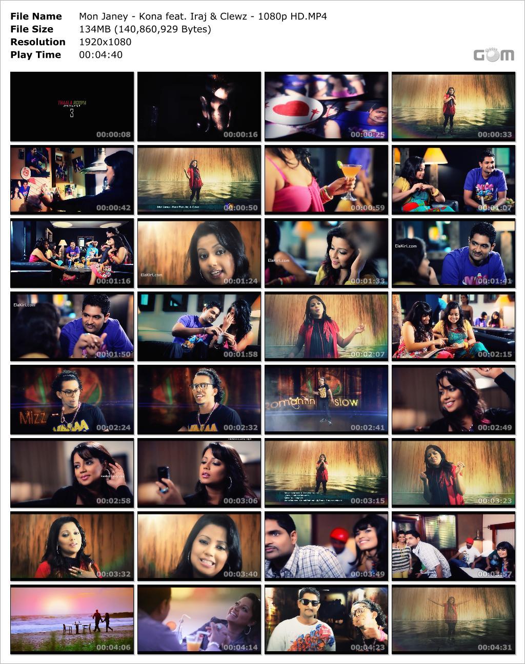 Mon Janey - Kona Feat. Iraj & Clewz- 1080 HD Video Download