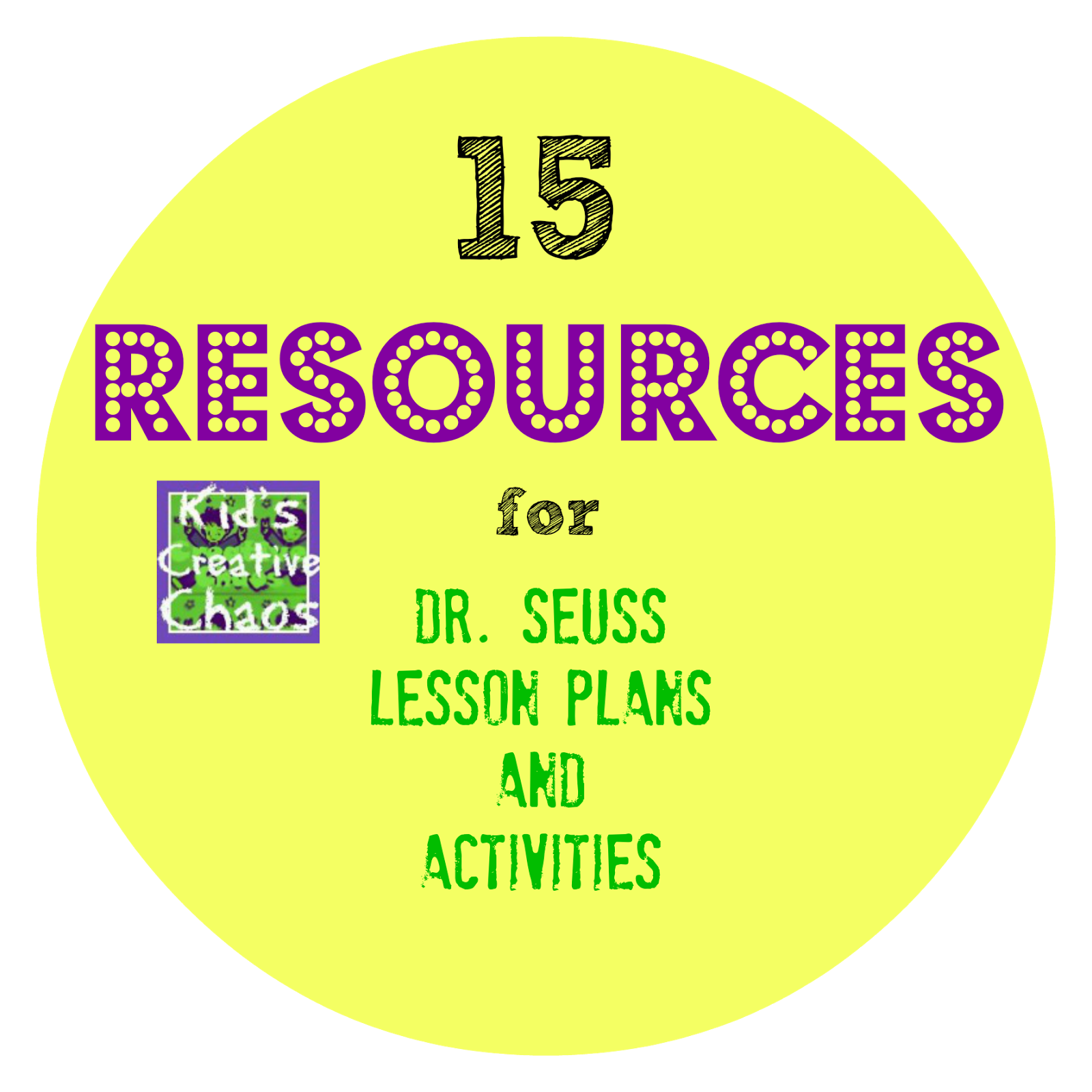 Dr. Seuss Lesson Plans Elementary School and Homeschool