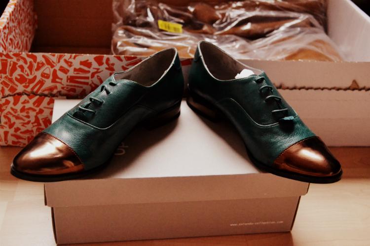 shoes gold zalando