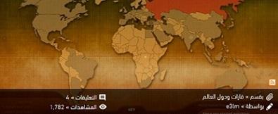 ** خريطة معلومات عن دول العالم - القارات - إنبعاث غازCo2 - معدل المواليد والوفيات / دقيقة وثانية
