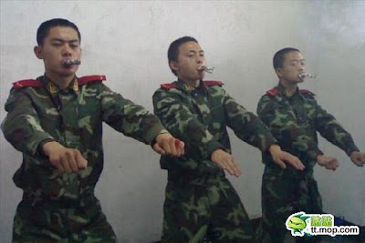 How They Make Chinese Soldiers Quit Smoking Seen On   www.coolpicturegallery.us
