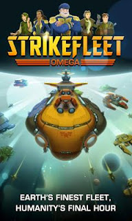 Screenshots of the Strikefleet Omega for Android tablet, phone.